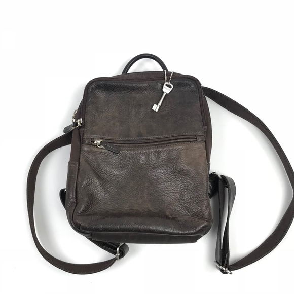 Fossil Handbags - Fossil Brown Leather Mini Backpack  755 c1c4d84958